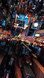 Bilder Haus Wolkenkratzer USA Von oben New York City Megalopolis