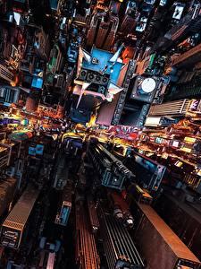 Bilder Haus Wolkenkratzer USA Von oben New York City Megalopolis Städte