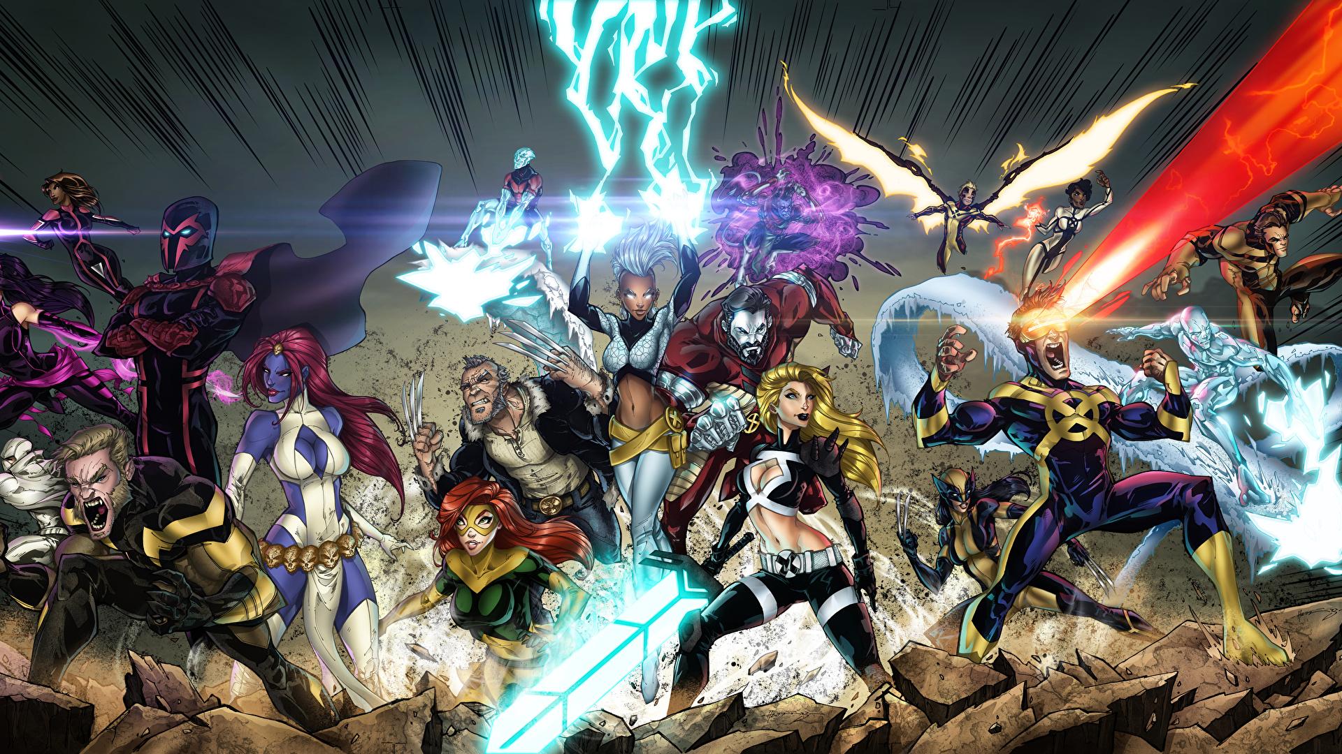 Photo Sorcery Heroes Comics X Men Fantasy 1920x1080