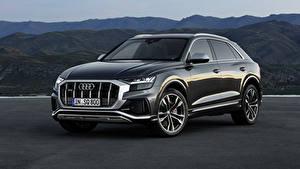 Hintergrundbilder Audi Grau Metallisch 2019 SQ8 TDI Worldwide auto