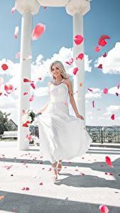 Bilder Kleid Kronblatt Säule Maxim Tumanov Mädchens