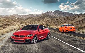 Wallpaper BMW Red M4 automobile