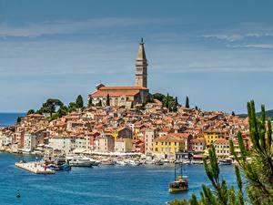 Bilder Kroatien Bootssteg Gebäude Meer Rovinj Städte
