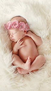 Wallpaper Baby Sleep Hands Legs Children