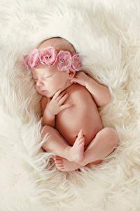 Fotos Baby Schläft Hand Bein Kinder