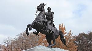 Bilder Washington, D.C. Denkmal Pferde Vereinigte Staaten district of Columbia, Lafayette Square Städte