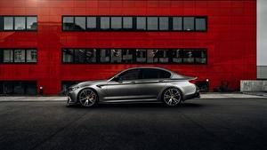 Tapety na pulpit BMW Widok z boku Szary AC Schnitzer M5 F90 2019 ACS5 Sport samochód