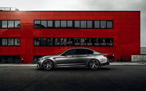 Картинки BMW Сбоку Серый AC Schnitzer M5 F90 2019 ACS5 Sport авто
