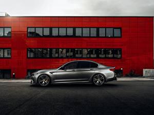 デスクトップの壁紙、、BMW、側面図、灰色、AC Schnitzer M5 F90 2019 ACS5 Sport、自動車