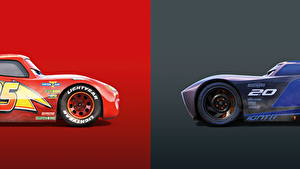 Image Cars 3 Two Lightning McQueen, Jackson Storm