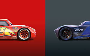 Fonds d'écran Cars 3 Deux Lightning McQueen, Jackson Storm