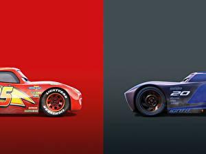 Hintergrundbilder Cars 3 Zwei Lightning McQueen, Jackson Storm