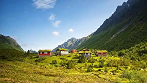 Fotos Norwegen Gebirge Haus Kolas Natur
