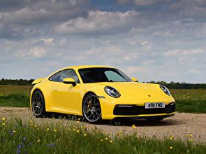 Fotos Porsche Gelb 911 Autos