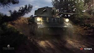 Hintergrundbilder WOT Panzer Russisches Tetrarch Spiele
