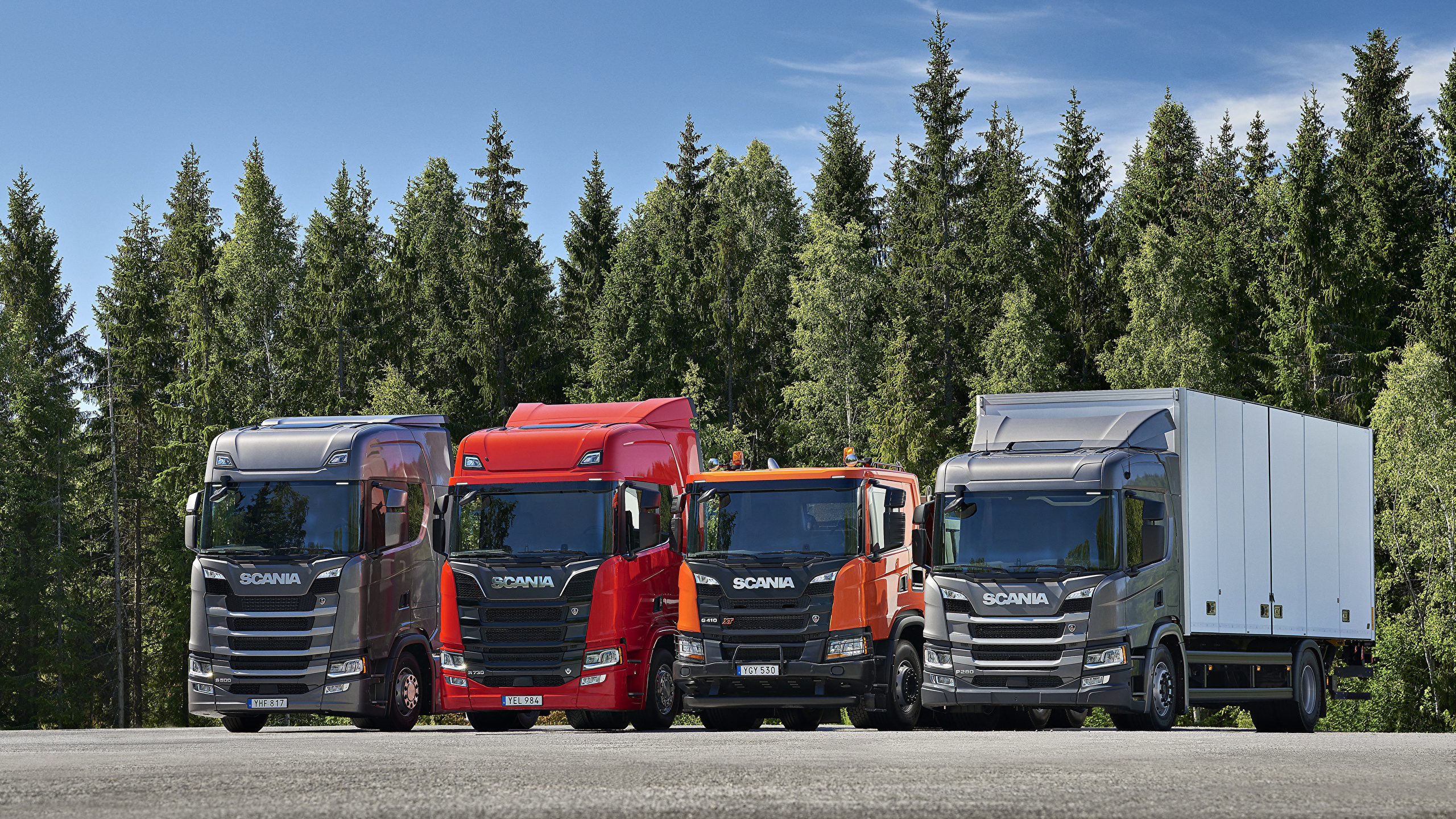 Wallpaper Lorry Scania Auto Front 2560x1440