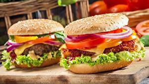 Fotos Burger Großansicht Fast food Gemüse 2