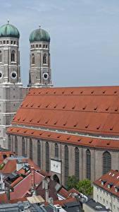 Hintergrundbilder Gebäude Kirche München Deutschland Denkmal Kathedrale Türme Bayern Frauenkirche Cathedral