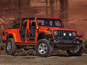 Bilder Jeep Rot Pick-up 2019 Gladiator Gravity
