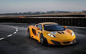 Bakgrundsbilder på skrivbordet McLaren Tuning Orange 2011 MP4-12C GT3 revised automobil
