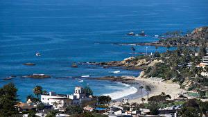 Bilder Vereinigte Staaten Gebäude Küste Strand Laguna Beach Natur