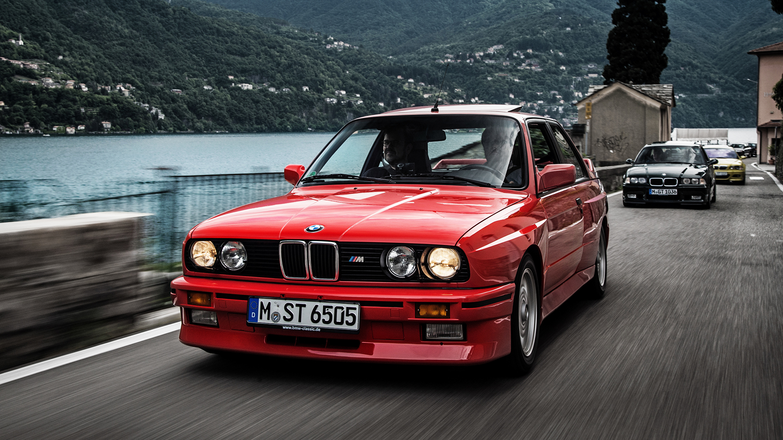 Image Bmw E30 1986 Coupe Red At Speed Cars Front 2560x1440