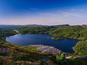 Bilder Schweden Landschaftsfotografie See Hügel Hotagen Natur