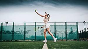 Fotos Tennis Bein Rock Seitlich Katrin Sarkozy, Anton Harisov Sport Mädchens