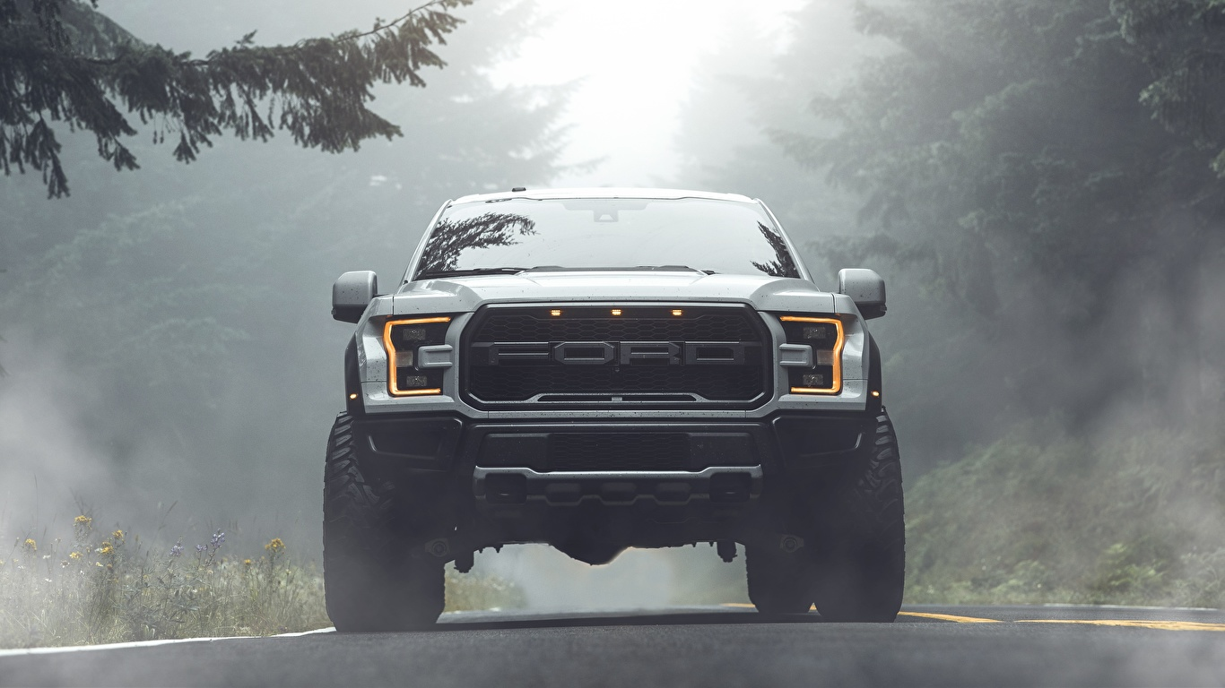 Photo Ford Raptor F 150 2019 By Aaron Brimhall Pickup White 1366x768