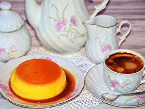 Bilder Kaffee Gelee Tasse Kanne Teller Lebensmittel