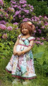 Bilder Park Puppe Kleine Mädchen Kleid Strauch Grugapark Essen