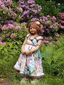Photo Parks Doll Little girls Dress Shrubs Grugapark Essen Bush