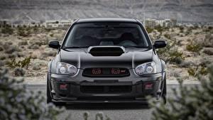 Hintergrundbilder Subaru Vorne Schwarz Impreza, WRX, STI