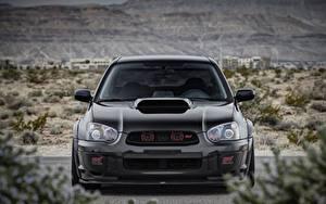Hintergrundbilder Subaru Vorne Schwarz Impreza, WRX, STI auto