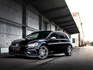 Bureaubladachtergronden Volkswagen Zwart kleur Metallic 2020 Manhart RS 450