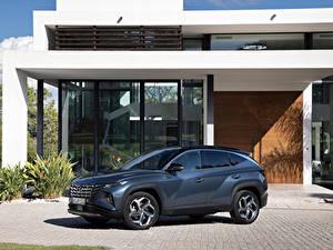 Fotos Hyundai Crossover Metallisch Tucson Hybrid (NX4), 2021 Autos