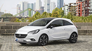 Fotos Opel Weiß Metallisch 2014-20 Corsa Color Edition 3-door