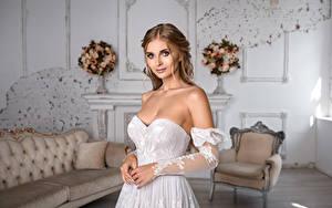 Hintergrundbilder Kleid Hand Bräute Frisur Schöne Blick Igor Kondukov Mädchens