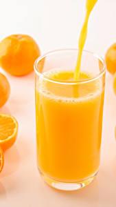 Fotos Mandarine Saft Trinkglas Lebensmittel