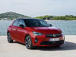 Hintergrundbilder Opel Rot 2019-20 Corsa GS Line automobil