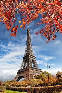 Bilder Frankreich Herbst Paris Eiffelturm