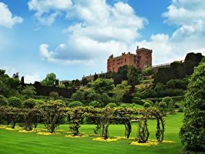 Photo Gardens Park Castle Wales Kingdom Of Powis, Powis castle