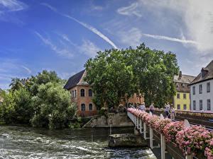 Fotos Deutschland Gebäude Flusse Brücke Bayern Bamberg Städte