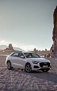 Wallpaper Audi Grey Metallic 2018 Q8 55 TFSI quattro Worldwide
