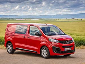 Bilder Opel Ein Van Rot Metallisch 2019-20 Vivaro CrewVan