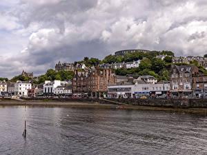 Bilder Schottland Haus Fluss Oban Städte