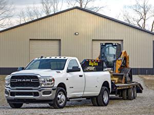 Bilder Dodge Pick-up Weiß Metallisch 2019 Ram 3500 Tradesman Regular Cab Chrome Appearance Package Dually