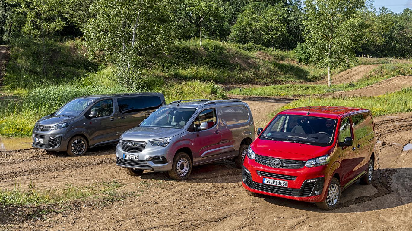 Foto Opel Combo Cargo, Zafira Life, Vivaro Ein Van Autos Drei 3 Metallisch 1366x768 auto automobil