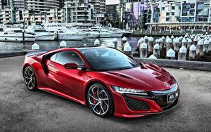 Bilder Honda Rot Metallisch NSX Autos