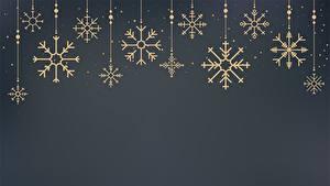 Fotos Neujahr Schneeflocken Vorlage Grußkarte Grauer Hintergrund